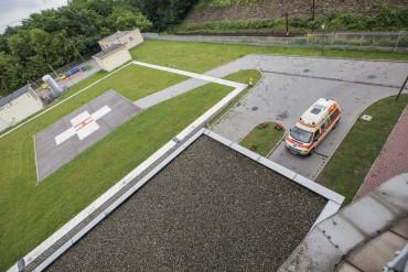 Zdjęcie przedstawia lądowisko dla helikopterów